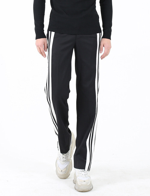 B. STRIPE STRETCH TWILL PANTS