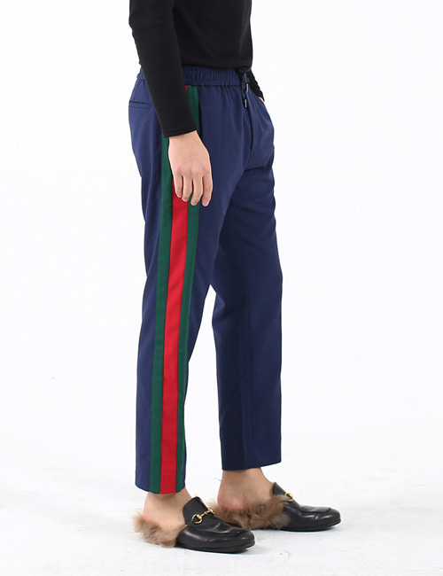 G. WOOL MOHAIR TROUSERS_GREEN