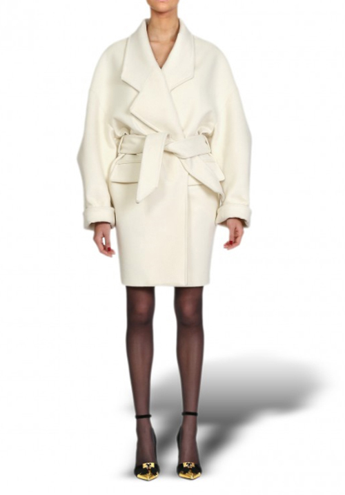 BAL WOOLGOWN COAT_WHITE
