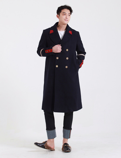 G. WOOL DOUBLEBREASTED COAT_NAVY_M