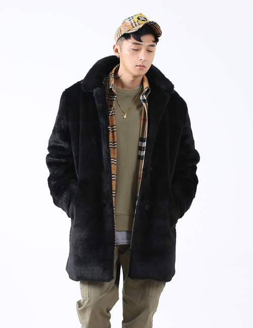 S. FAKE FUR HALF COAT