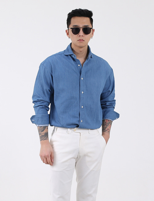 T. WIDEKARA WASHING DENIM SHIRTS
