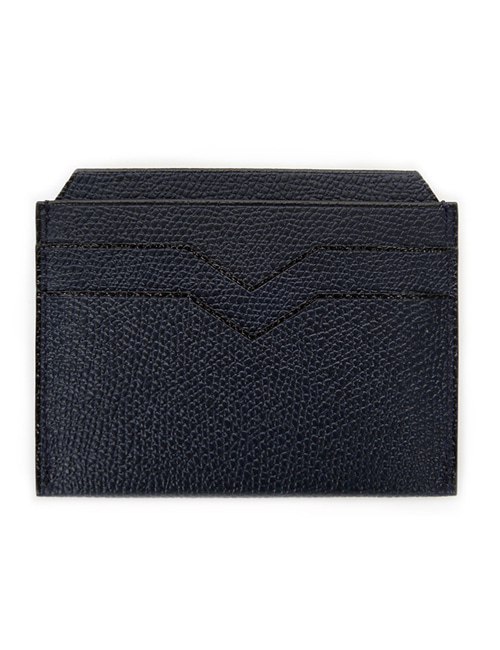 V. LEATHER CARD HOLDER_NAVY