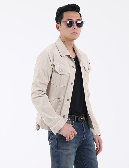 T. STRETCH COTTON CORDUROY JACKET